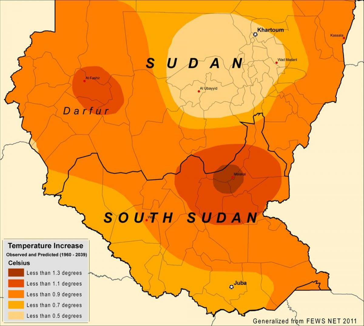 Map of Sudan climate
