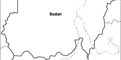 Map of Sudan blank