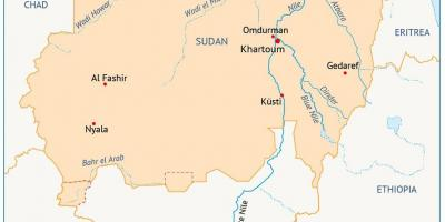 Map of Sudan river